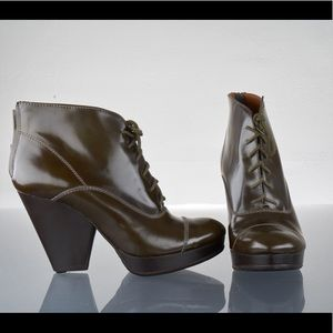 Leather Platform Heels, Madewell